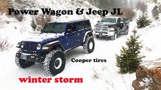 JL Rubicon and Ram Power Wagon Snow Wheeling