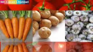 Differentiation of vegetables of Vietnam and China