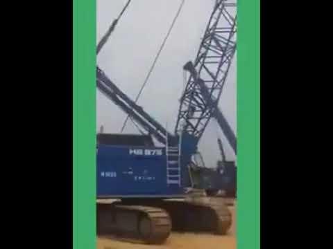 Constructiin work on 2nd Niger Bridge, SE Nigeria.