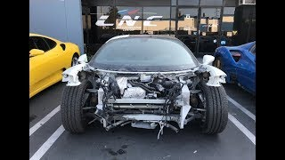 REBUILDING A WRECKED FERRARI 458 FROM COPART