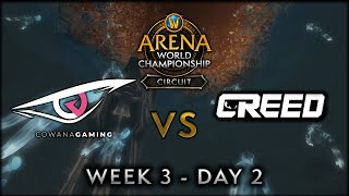 Cowana Gaming vs Creed | Week 3 Day 2 | AWC SL Circuit