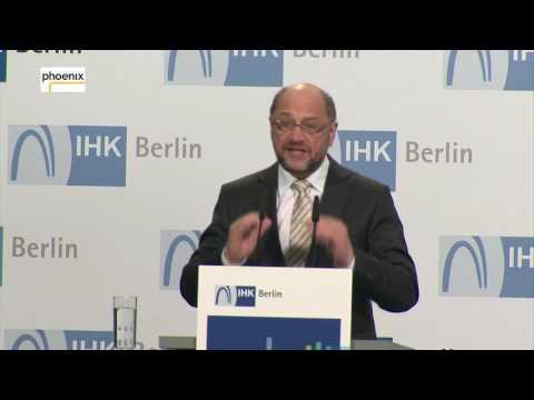 Martin Schulz: Wirtschaftspolitische Rede bei der IHK Berlin am 08.05.17
