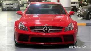 Red Mercedes-Benz SL65 AMG Black Series at The Dubai Mall