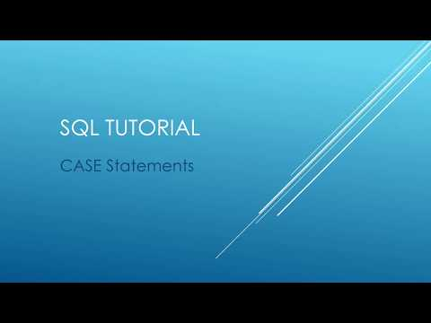 SQL Tutorial - CASE Statements