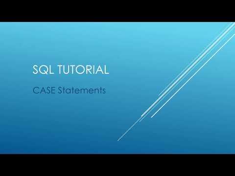 SQL Tutorial - CASE Statements