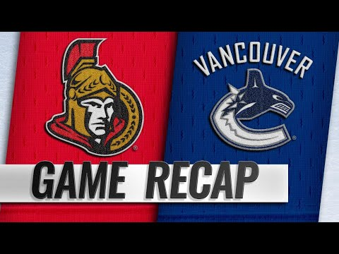 Canucks fend off late rally from Senators in 7-4 win