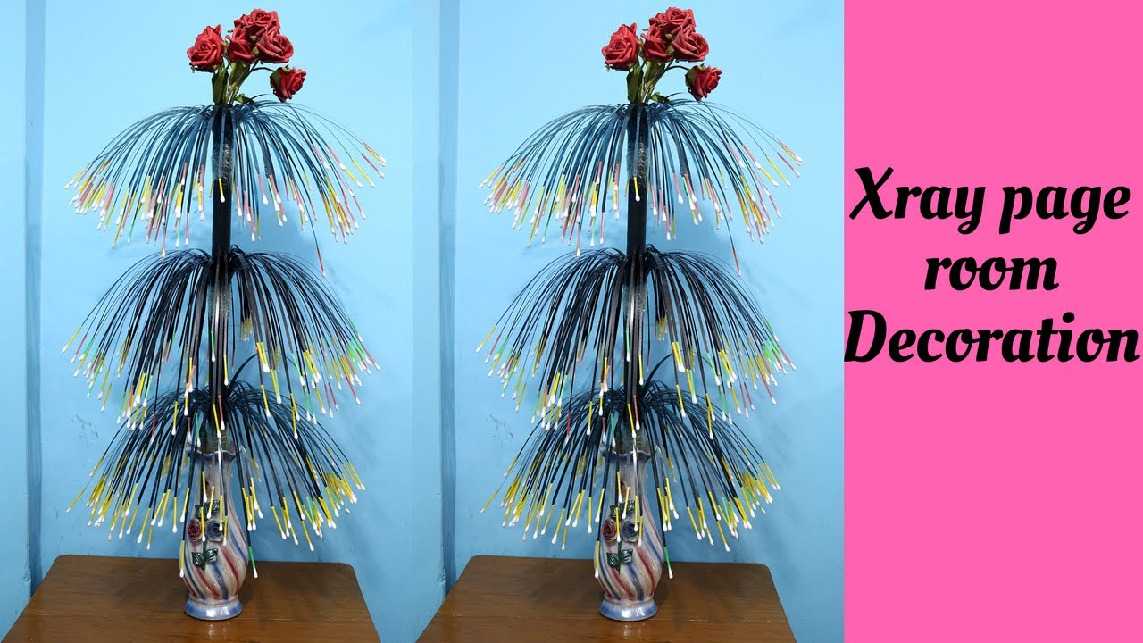 How To Make Flower Showpiece Using X Ray Page Room