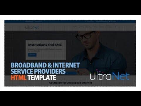 UltraNet - Broadband & Internet Service Providers HTML Template | Themeforest Templates