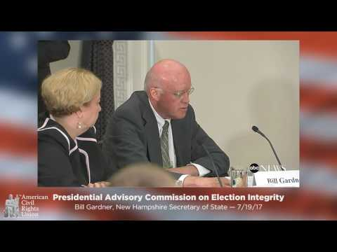 Bill Gardner: Presidential Commission on Election Integrity