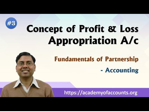 Important concept of P&L App. A/c ~ Fundamental of Partnership Firm [Class-3]  ~ For Class 12th