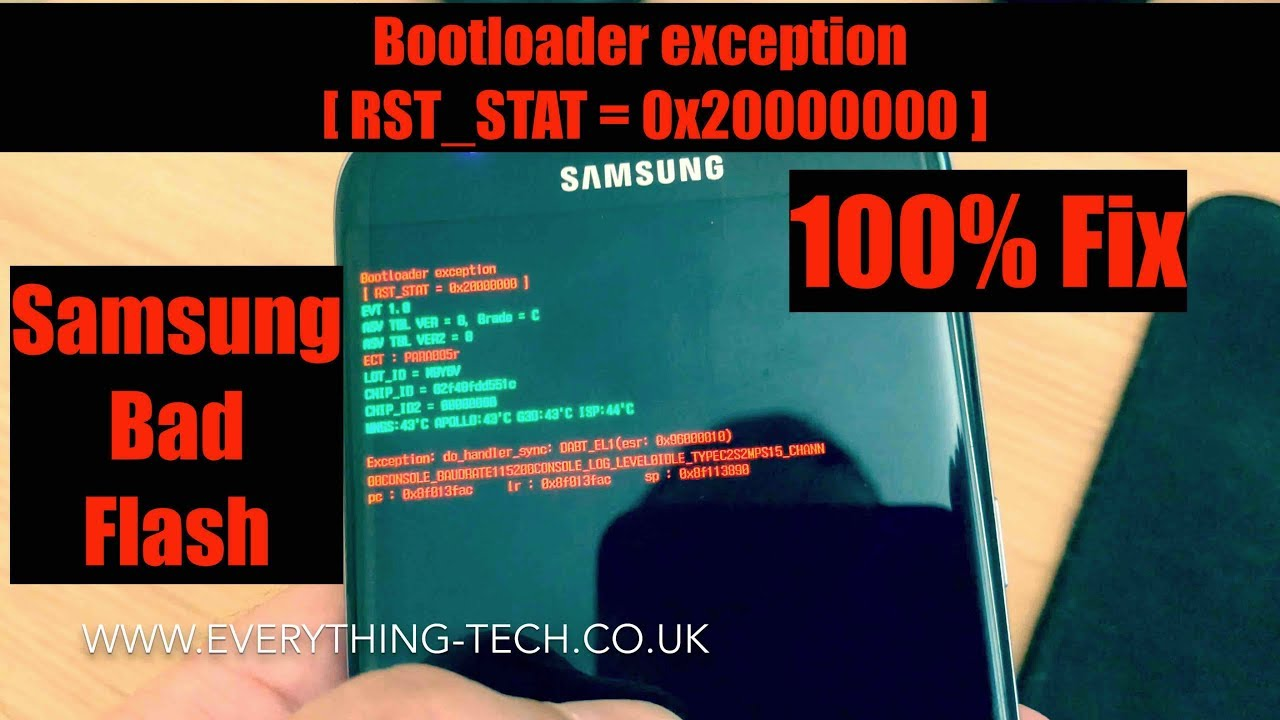 Bootloader Exception Samsung Android Bad Flash 100% Fix by EverythingTech
