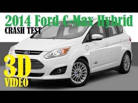 2014 Ford C-Max Hybrid IIHS Crash Test [3D]