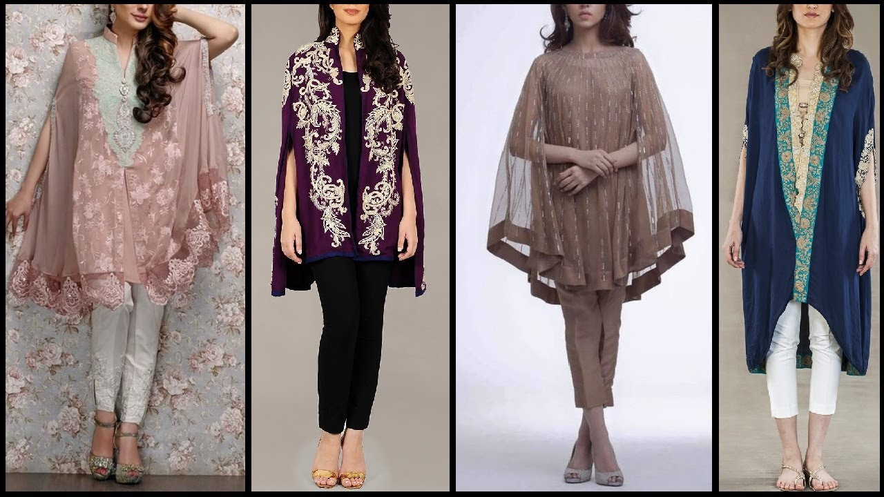 Women new cape style dresses designs for parties latest for Cape designs