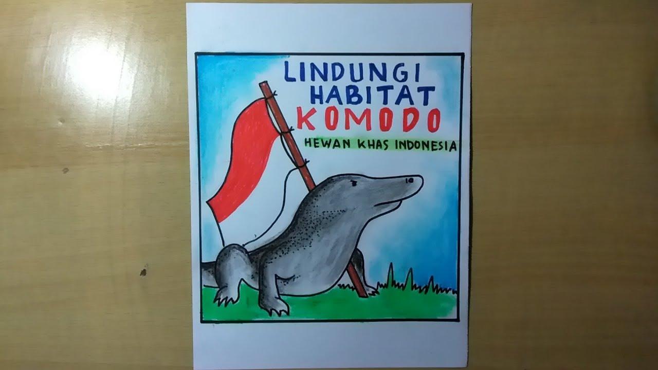Poster Hewan Langka Komodo Youtube