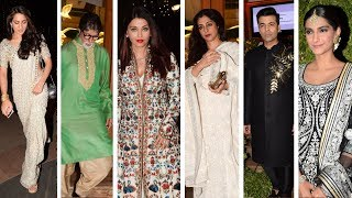 Aishwarya, Sonam Kapoor, Sara Ali Khan, Amitabh, Tabu At Sandeep Khosla's Niece Wedding Reception