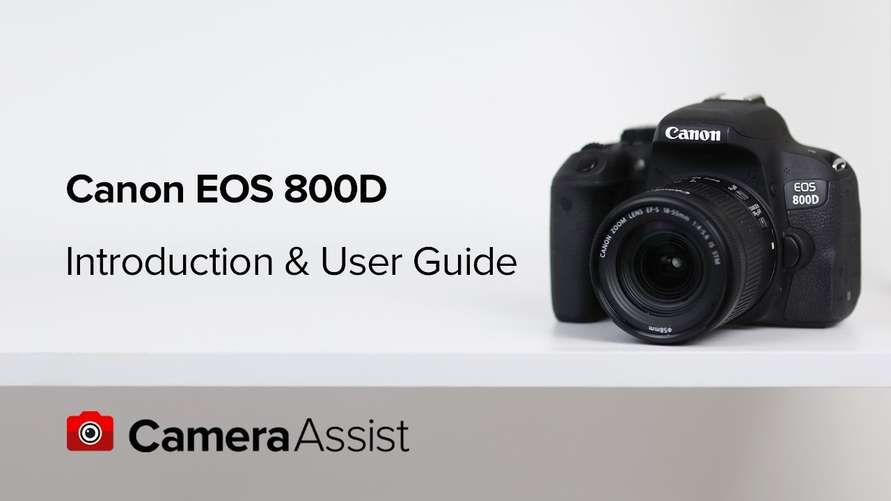 Canon EOS 800D DSLR Camera with Guided Display Feature and 18-55mm Lens