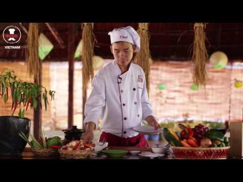 Vietnamese Crispy Sticky Rice Ball Stuff With Pork & Prawns - Chef Tan - World Food Studio