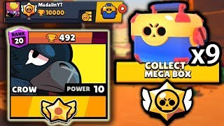AM FACUT 10k TROFEE SI DESCHID 9 MEGA BOX-URI! Brawl Stars Romania