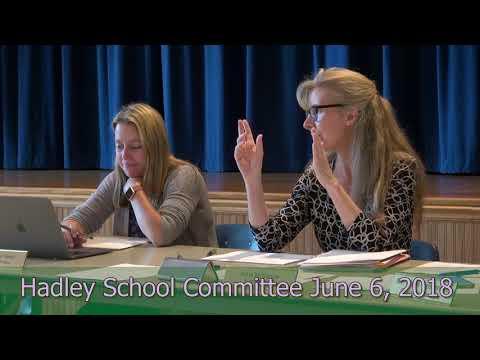 Hadley School Committee June 6, 2018