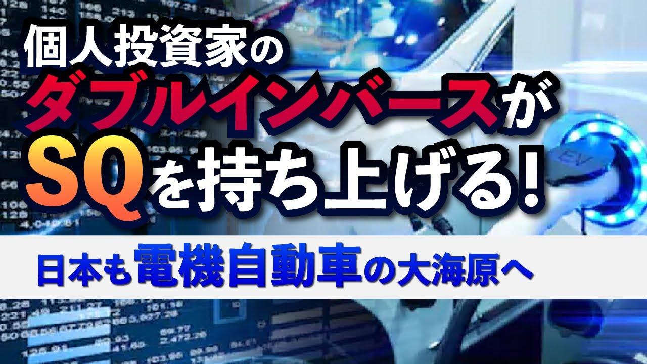 ダブルインバースETFと個人投資家が相場の急騰を演出した。日本も電機自動車の大海原へ。2030年からガソリン社の新車発売禁止!