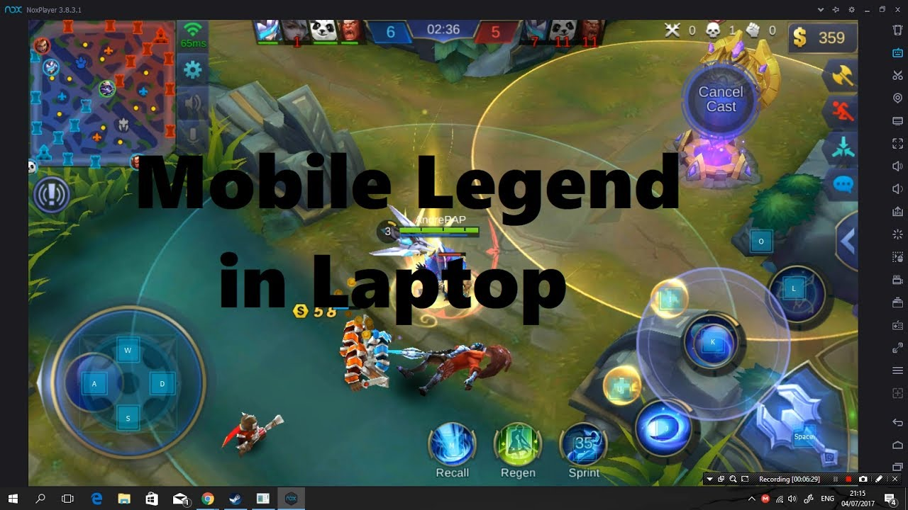 tutorial play mobile legend use laptop or pc youtube