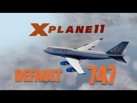 X Plane 11 Beta2 - Default 747 Flight (Cold/Dark) Tragedy at take-off!