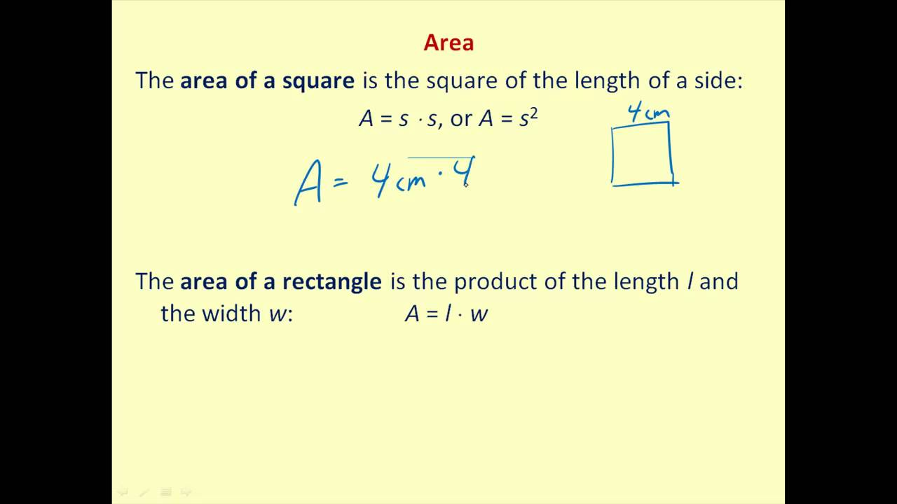 Perimeter and area formulas youtube ccuart Gallery