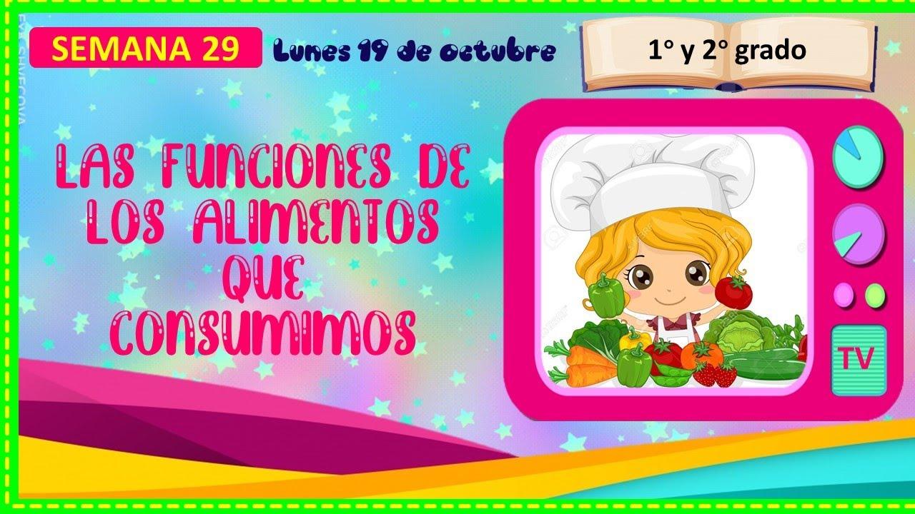 Las Funciones De Los Alimentos Que Consumimos Lunes 19 De Octubre Aprendo En Casa Youtube