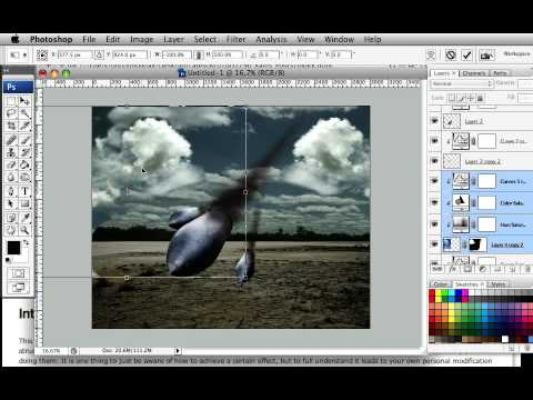 How to Create a Surreal Scene of Flying Bombs on Fire