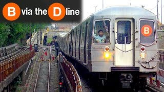 ⁴ᴷ B Trains Running via the D Line to Bay Parkway