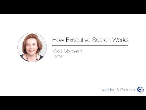 How does executive search work?