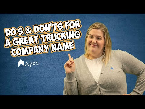 How to Choose a Great Trucking Company Name