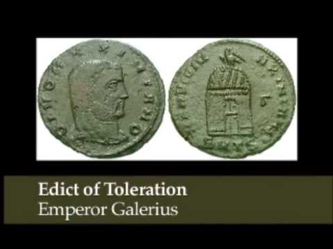Edict of Toleration 30 April 311 Christian History