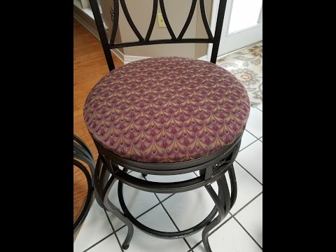 Re-cover your Bar Stools and Chairs The Easy Way!