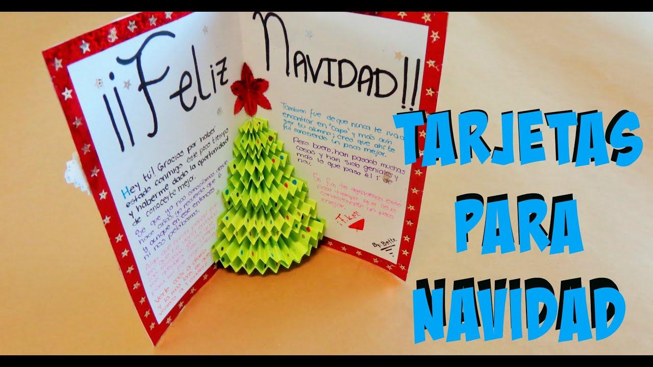 Diy tarjeta de arbol en 3d pop up tarjetas para - Como hacer tarjetas de navidad faciles ...