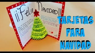 DIY - Tarjeta de arbol en 3D {Pop-up} // Tarjetas para Navidad