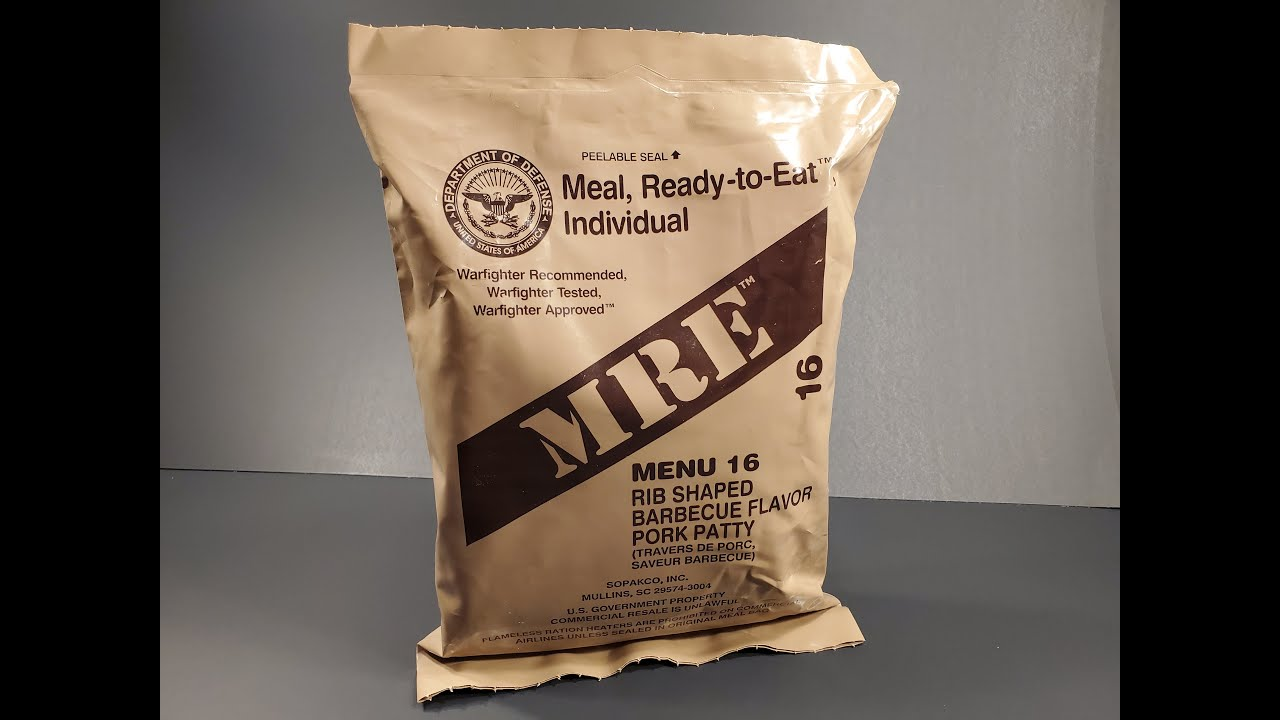 2016 MRE Rib Shaped BBQ Pork Patty Review The Best Meal Ready to Eat No Longer Made Taste Test