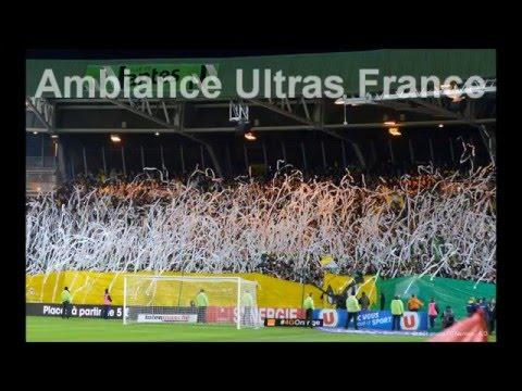 Ambiance en Tribune Loire du FC Nantes - Pyro/Chant/Tifo
