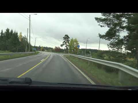 4K | Driving in the Finnish Countryside & City