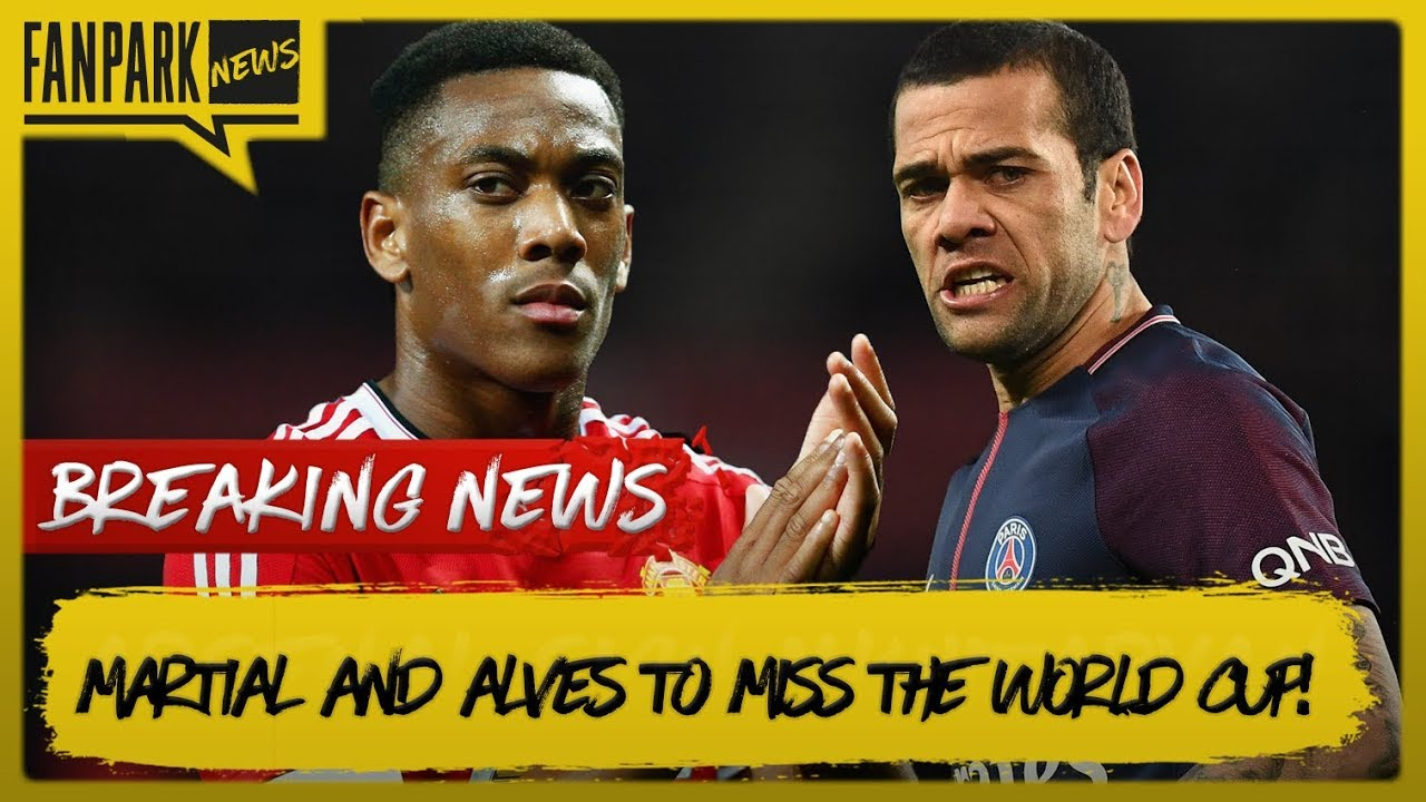 France World Cup Squad Announced | England Squad In Question | Martial and Alves To Miss World Cup