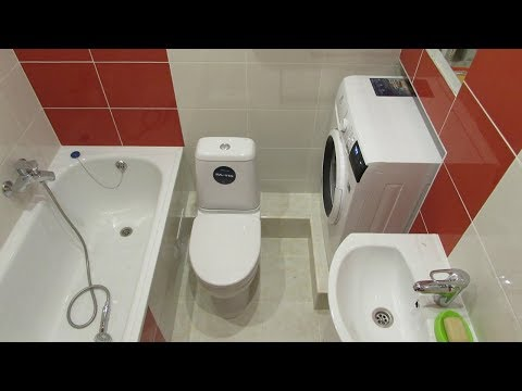 Подключение стиральной машины!!! Идеи для маленькой ванной!!
