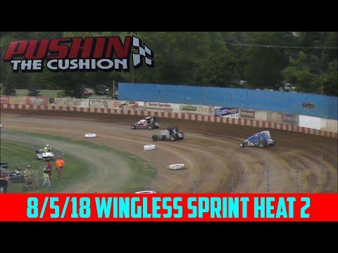 Angell Park Speedway - 8/5/18 - Sprints - Heat 2