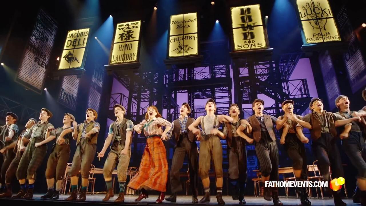 Disney S High Energy Trailer Newsies The Broadway Musical Youtube