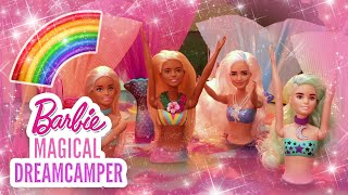 RAINBOW MERMAIDS & UNICORNS AT CRYSTAL LAKE! 🌈🦄🍕 COLOR REVEAL | Barbie Magical DreamCamper | @Barbie