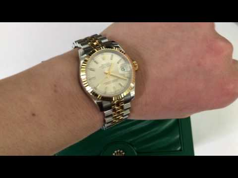 Rolex 31mm Datejust 2-Tone ss/18K Gold Original silver index face NEW STYLE