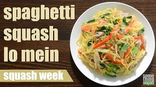 spaghetti squash lo mein (vegan & gluten-free) Something Vegan Squash Week