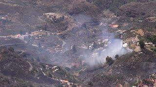 Un millar de personas permanecen desalojadas por incendio de Gran Canaria