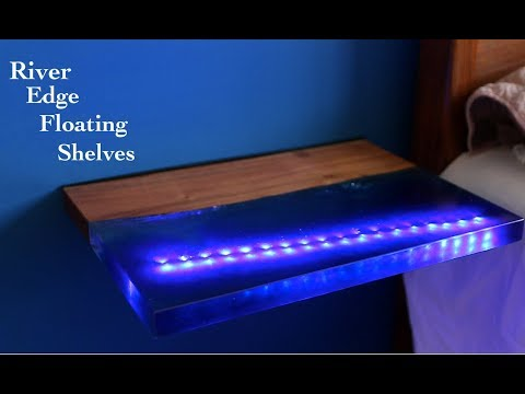 DIY River Edge Floating Shelves
