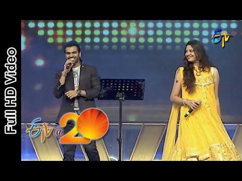 Sreeram Chandra and Geetha Madhuri Performs - Barbie Girl Song in Srikakulam ETV @ 20 Celebrations