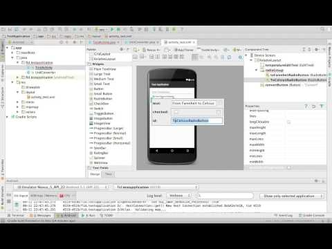 Temprature Converter in android studio